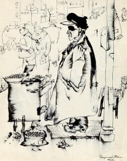 Hajnal János - Gesztenyesütő (1933)