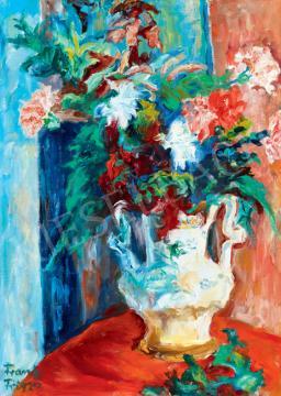 Frank Frigyes - Virágok fehér vázában | 41. Aukció aukció / 65 tétel
