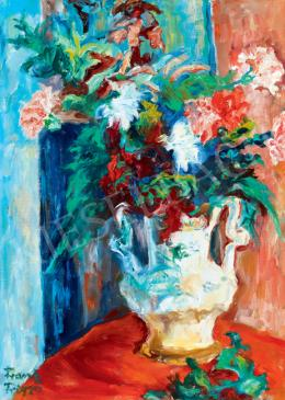 Frank, Frigyes - Flowers in White Vase