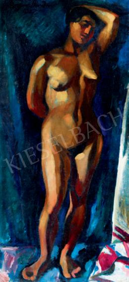 Ziffer, Sándor - Nude with Blue Drapery (Model)