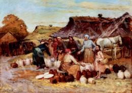 Deák Ébner, Lajos - Pottery Narket (Market Scene)