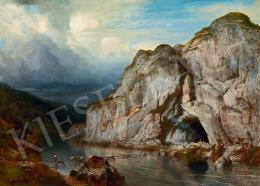 Telepy Károly - A erdélyi Zich-barlang bejáratánál