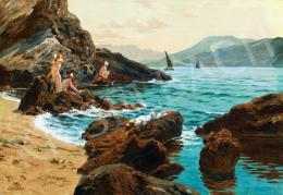 Nádler Róbert - Horvát tengerpart fürdőzőkkel (Dalmácia)