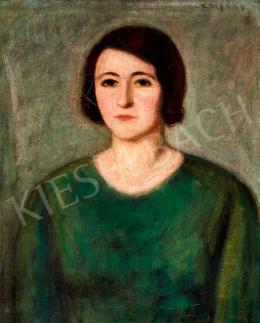 Czigány Dezső - Zöld ruhás hölgy
