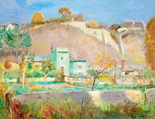 Boldizsár István - Napsütötte domboldal (Veszprémi városrészlet)   41. Aukció aukció / 133 tétel