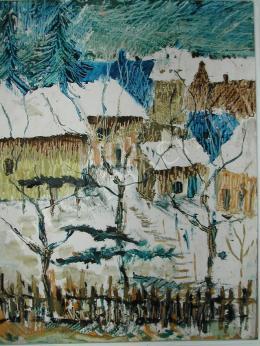 Fülöp Sándor - Varjak a havas kert felett