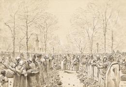 Mednyánszky László - Barackvásár Kecskeméten (1880-as évek)