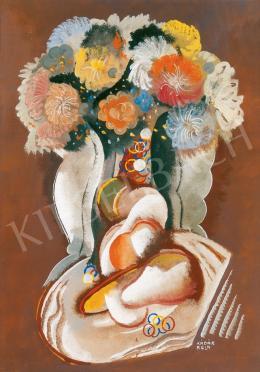 Kádár Béla - Virágcsendélet gyümölcsökkel (1935 körül)