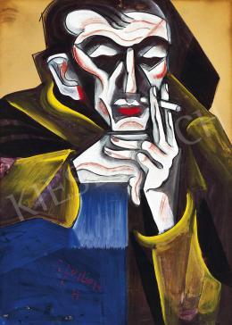 Scheiber Hugó - Cigarettázó férfi (1925 körül)