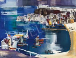Aba-Novák, Vilmos - Fishermen's Town by the Adria ( Porto delll'Adriatico)