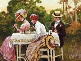 Margitay, Tihamér - Chess Players in Open Air