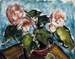 Dénes, Valéria - Still-life with Flowerpot