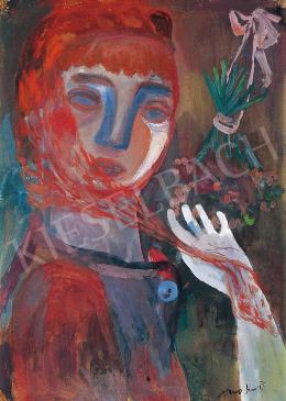 Anna Margit - Nő vörös fátyollal, 1936 körül
