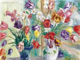 Boldizsár István - Virágcsendélet tulipánokkal