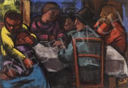 Jándi Dávid - Család (Asztal körül)