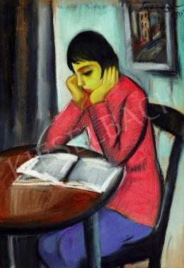 Schönberger Armand - Olvasó kislány