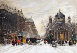 Berkes Antal - Téli utca a nagyvárosban