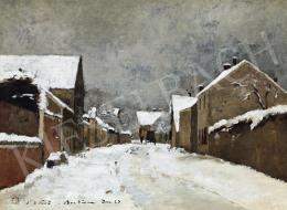 Paál László - Havas barbizoni utca (Barbizon)