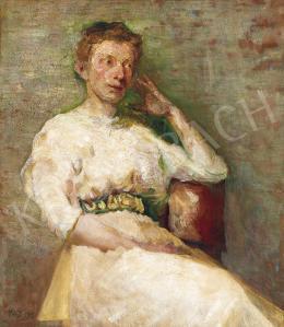 Pór Bertalan - Fehér ruhás nő