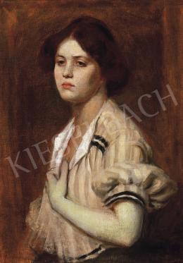 Székely, Bertalan - Girl in a blouse