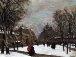 Berkes Antal - Teleki tér télen