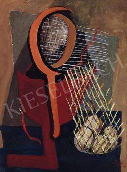 Tihanyi Lajos - Csendélet teniszütővel