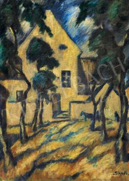 Schadl János - Ház fákkal