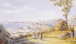 Ismeretlen festő - Nápoly környéki részlet (1900 körül)