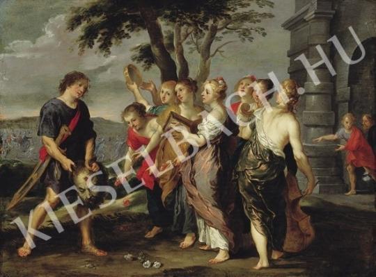 Ismeretlen festő - A győztes Dávid ünneplése festménye