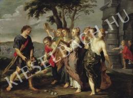 Ismeretlen festő - A győztes Dávid ünneplése (17. század)