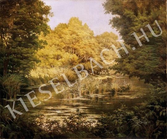 Ismeretlen festő - Nyári folyópart festménye