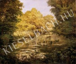 Ismeretlen festő - Nyári folyópart