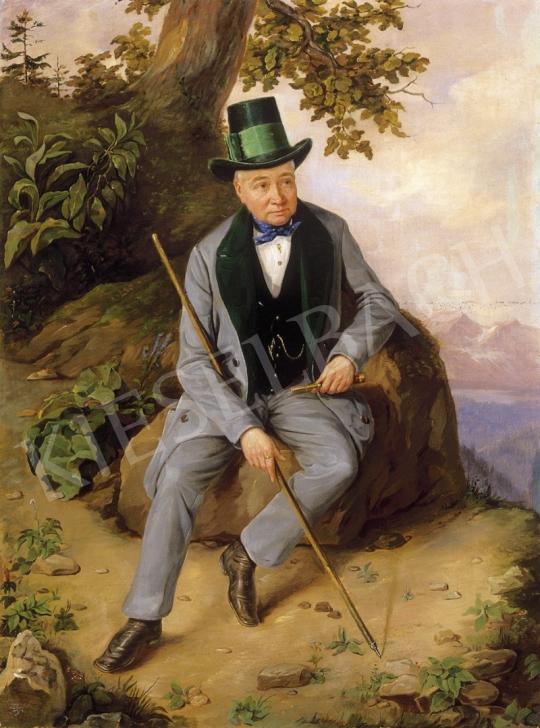 Ismeretlen festő - Vándor | 1. Aukció aukció / 153 tétel