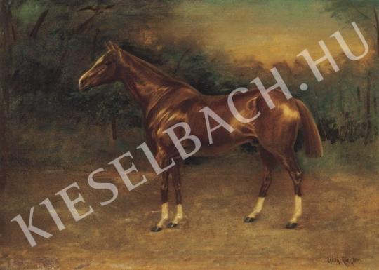 Ismeretlen festő - Sárga ló festménye