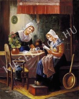 Ismeretlen festő - Szerelmeslevél (1900 körül)