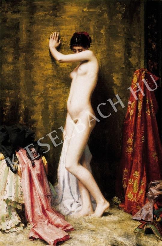 Ismeretlen festő - Párizsi modell a festő műtermében festménye