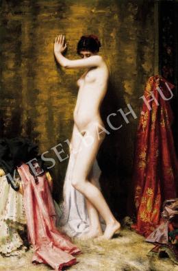 Ismeretlen festő - Párizsi modell a festő műtermében