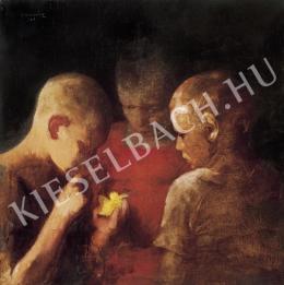 Ismeretlen festő - Fiúk kismadárral (1925)