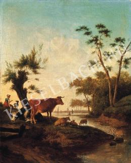 Ismeretlen festő - Patakparti idill (1790-1810 között)