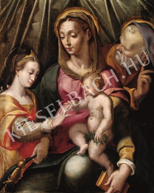 Ismeretlen festő - Alexandriai Szent Katalin misztikus eljegyzése festménye