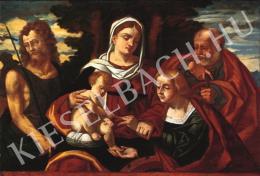 Ismeretlen festő - Madonna a gyermekkel, Alexandriai Szent Katalinnal, Keresztelő Szent Jánossal és Szent Józseffel (16. század első fele)