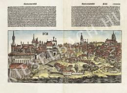 Ismeretlen festő - Buda látképe Hartmann Schedel Liber Chronicarum c. munkájának latin nyelvű kiadásából (1493, Nürnberg)