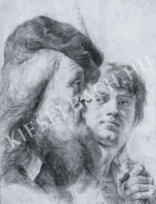 Ismeretlen festő - Két férfifej festménye