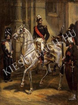 Ismeretlen festő - III. Napóleon lovon