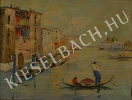 Ismeretlen festő - Velencei gondolások (1930-as évek)