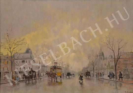For sale  Berkes, Antal - Yellow Horse Carriage 's painting