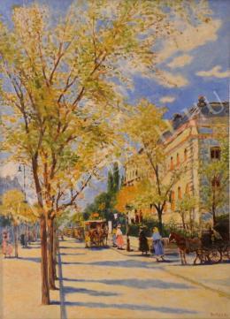Berkes Antal - Az Andrássy úti fasor (1910-es évek)