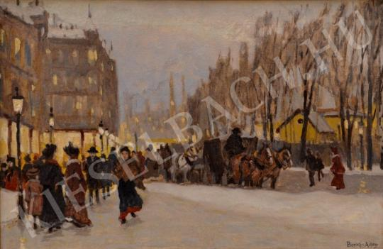 For sale  Berkes, Antal - Winter City with Crowd 's painting