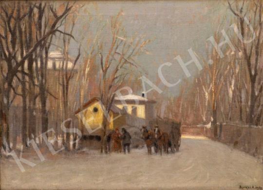 Eladó  Berkes Antal - Konflis a havas budai erdőben festménye