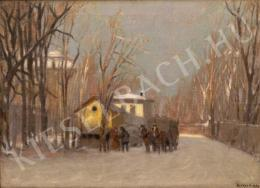 Berkes, Antal - Horse Carriage in Snowy Forest